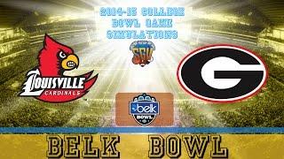 Belk Bowl Sim - Georgia vs Louisville (NCAA Football 14 - Xbox 360)