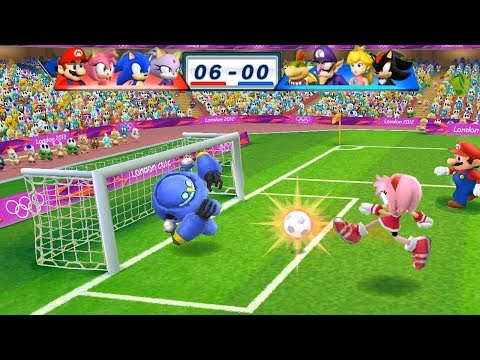 Mario & Sonic At The London 2012 Olympic Games Football Blaze, Sonic, Amy and Mario