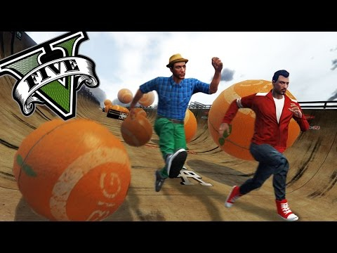 GTA V Online - CARRERA DE BOLAS estilo indiana Jones!! xDD - NexxuzHD