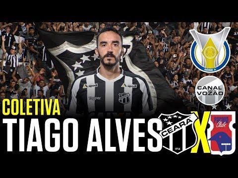 [Série A '18] Coletiva Tiago Alves   Pré-jogo Ceará SC X Paraná Clube   Canal do Vozão