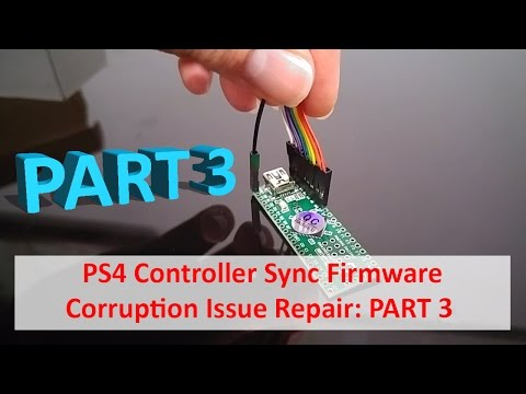 PS4 Controller Sync NOR Flash Corruption Repair 3/3 - Dumping, Fixing, Flashing and Testing