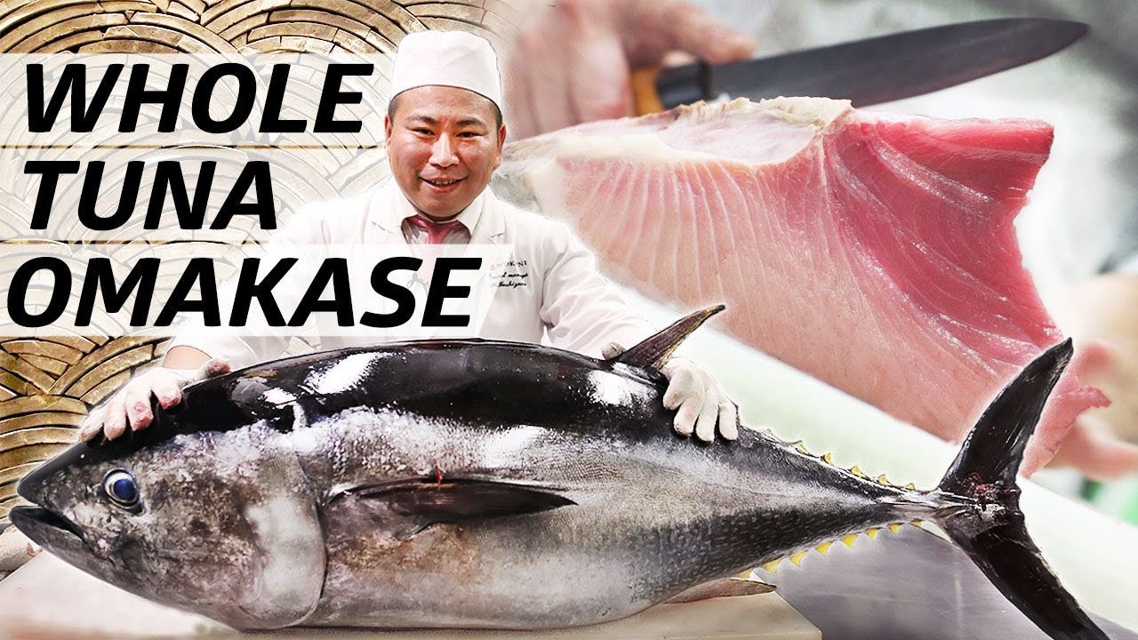 Making a Japanese Omakase Dinner from a Big Bluefin Tuna