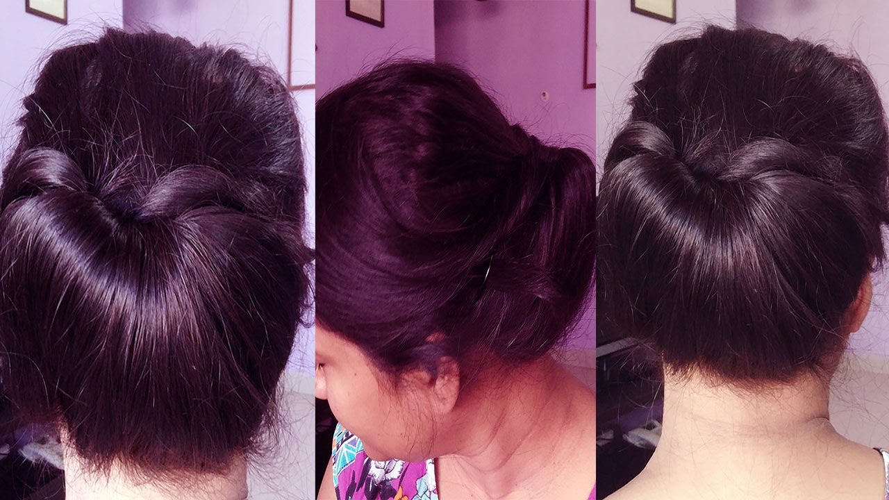 Bun For Short hair Indian - YouTube