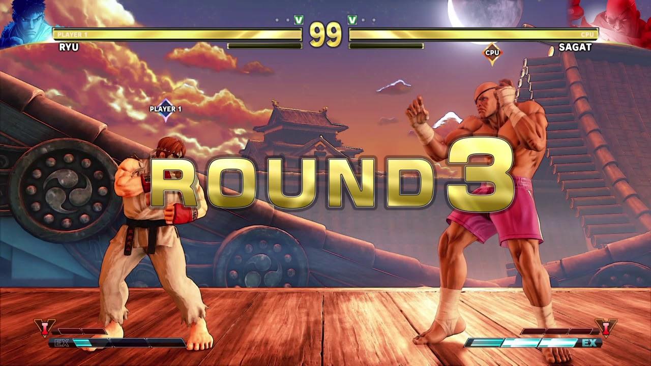 Street Fighter V Ryu Vs Sagat Youtube