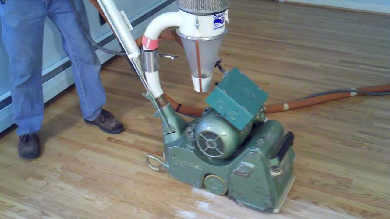 How To Sand A Hardwood Floor   Dustless Refinishing   YouTube