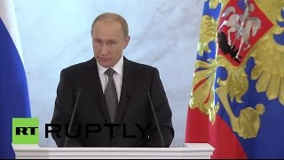 LIVE: Putin delivers state-of-the-nation address - English audio
