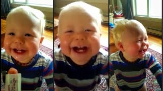 Baby Laughing at Dad