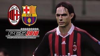 PES 2010 - AC Milan vs Barcelona (Buenos Recuerdos, Un PES que me divierte xD)