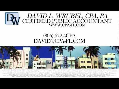 Firm Video for David L Wrubel CPA PA -- MIAMI BEACH, FLORIDA