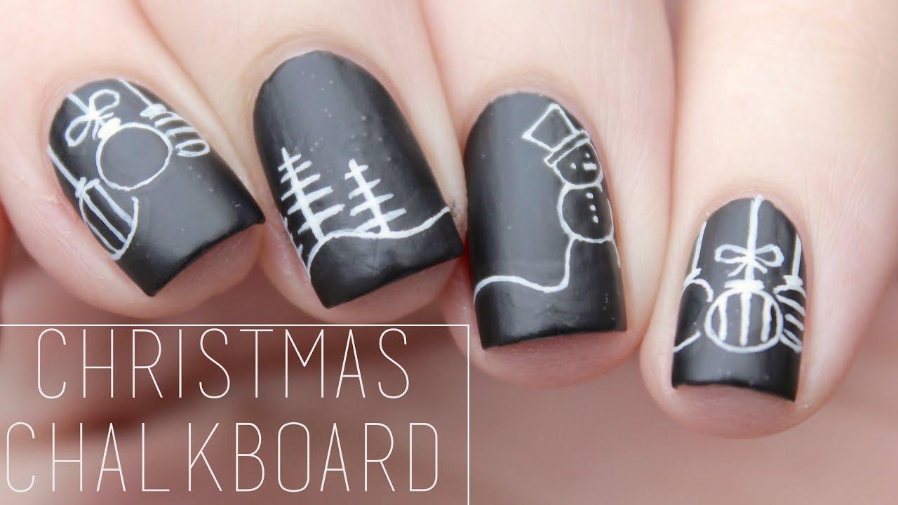 Chalkboard Nail Art Kitharingtonweb