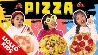 PIZZA 5 phút Vs 15 phút Vs 50 phút - Elsa đến Việt Nam làm Pizza?!?