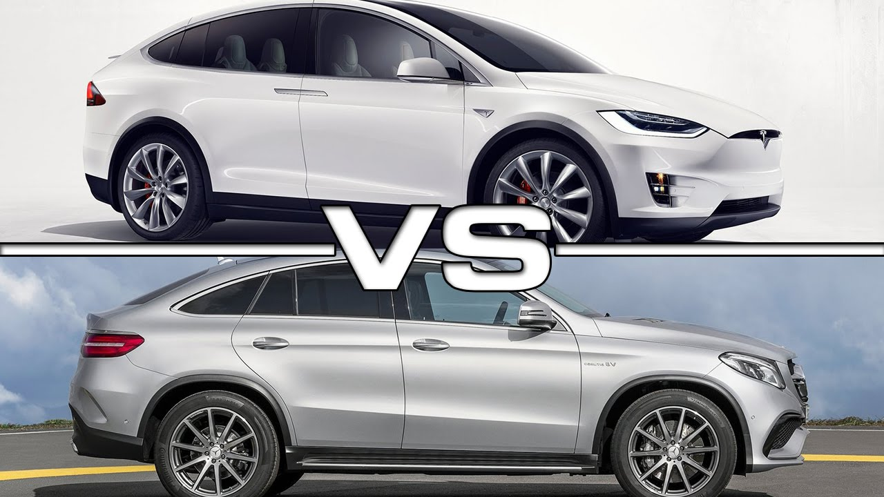 Tesla Model X Vs Mercedes Amg Gle63 Coupe Youtube