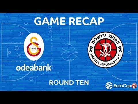 Highlights: Galatasaray Odeabank Istanbul - Hapoel Yahav Bank Jerusalem