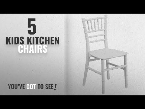 Top 10 Kids Kitchen Chairs [2018]: Flash Furniture Kids White Resin Chiavari Chair