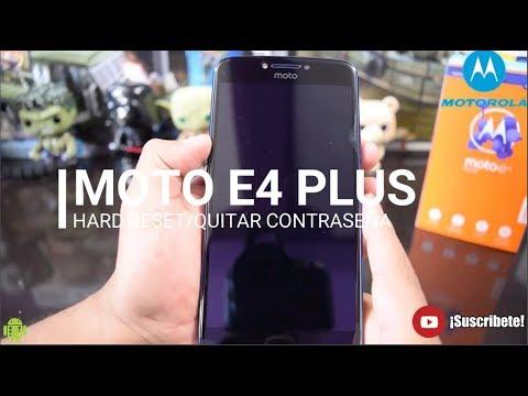 MOTO E4 PLUS Hard Reset/Desbloquear