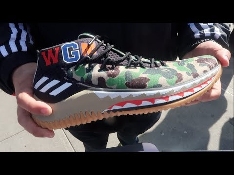 WE GOT THE ADIDAS DAME 4 BAPE