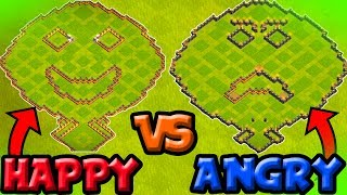 INTENSE 1vs1 IN Clash of Clans-THE BATTLE OF EMOTIONS-HAPPINESS vs SADNESS ~ COLLAB w/ LewisThePen