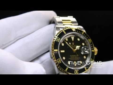 ROLEX SUBMARINER TWO TONE BLACK DIAL