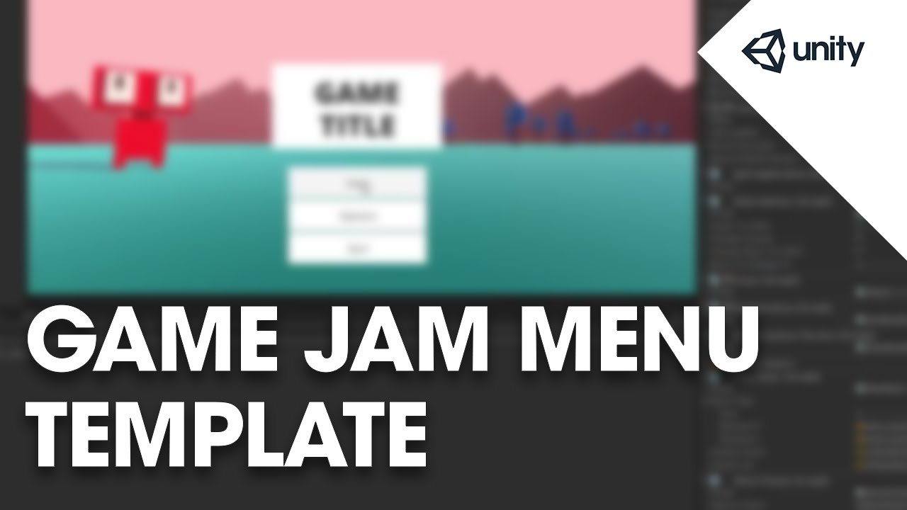 Live Training June. 29, 2015: Game Jam Menu Template - YouTube