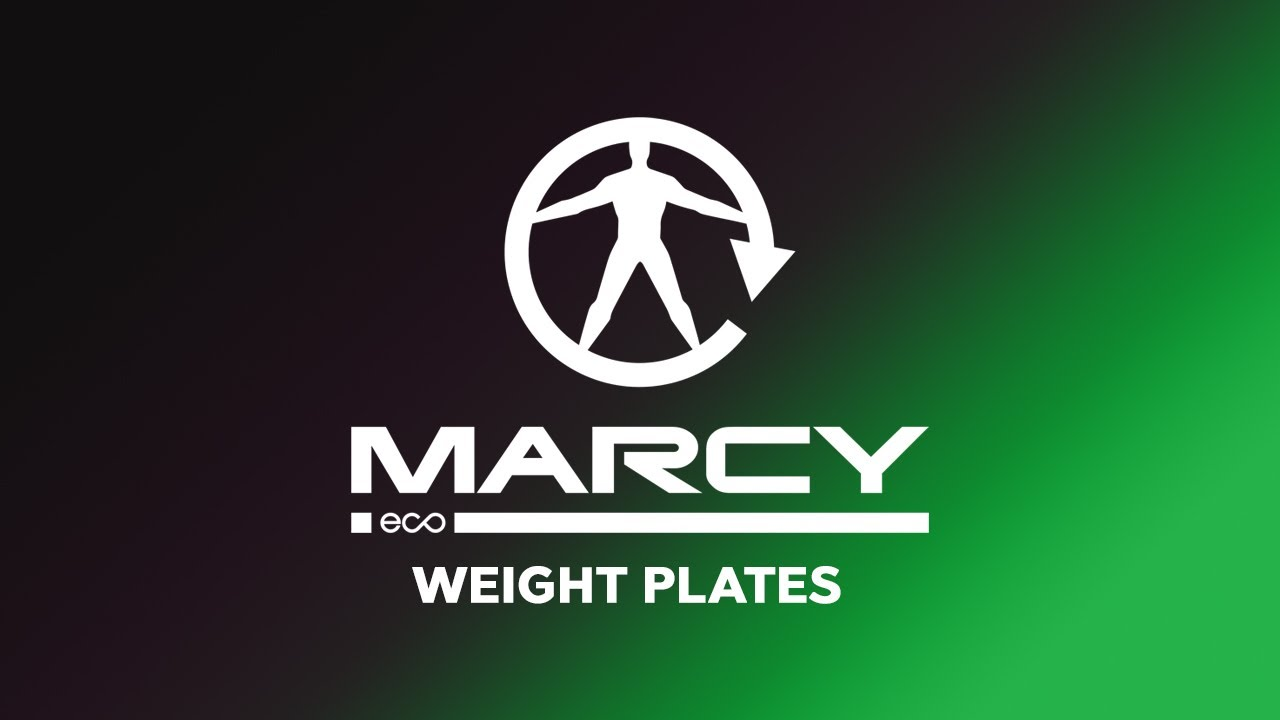 Marcy Eco Weight Plates Loaded onto Barbell