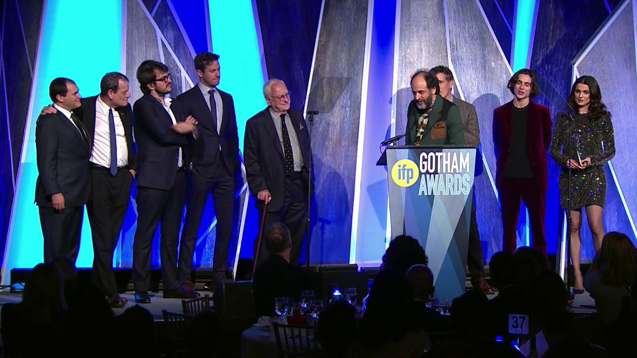 Resultado de imagem para gotham award call me by your name