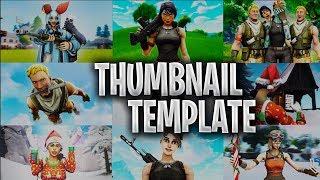 Free Fortnite Battle Royale Thumbnail Template - New 2019 (. PSD) | @Reznaks
