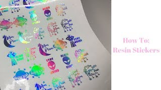 How To: Resin Stickers | Resin for Beginners | Sweet Art Crafts