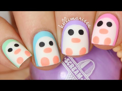 Penguin nails nail art gallery step-by-step tutorial photos.