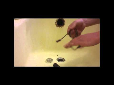 How To Clean/Clear a Pluged Tub Drain