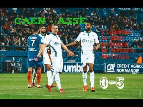 SM Caen - AS Saint-Etienne 0-5 Le résumé