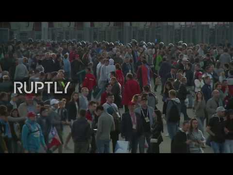 LIVE: Fans leave Zenit Arena after the Confederations Cup final
