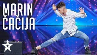 Marin Čačija shows his outstanding dance moves│Supertalent 2018│Auditions