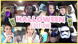 Letting Starbucks Baristas Pick Our Drinks IN COSTUME | HALLOWEEN EDITION