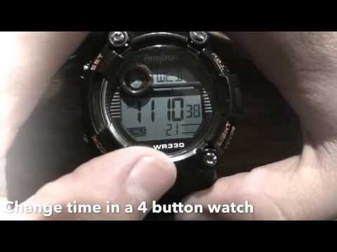Changing time on a 4 button watch [UPDATE 2015]