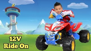 Unboxing Paw Patrol Kids Electric Battery Powered 12V Ride On Car With Ryder Ckn Toys thumbnail