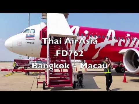 Thai AirAsia 'Hot Seats' Class Flight Report: FD762 Bangkok To Macau