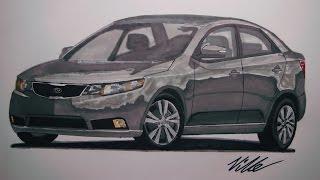2010 Kia Forte Drawing (Time Lapse)