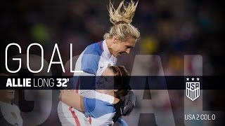WNT vs. Colombia: Allie Long First Goal - April 6, 2016
