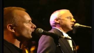Mark Knopfler Eric Clapton Sting Phil Collins- Money for Nothing (Live)
