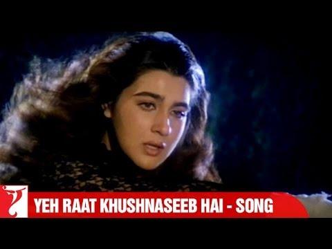 Yeh Raat Khushnaseeb Hai Song | Aaina | Jackie Shroff | Amrita Singh | Lata Mangeshkar