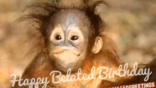 Cute Monkey Singing Happy Belated Birthday To You | BIRTHDAY SONG