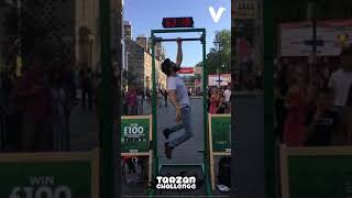 HANG CHALLENGE! EDINBURGH FESTIVAL FRINGE 2019. INCREDIBLE TECHNIQUE !!! £100 FOR HIM !