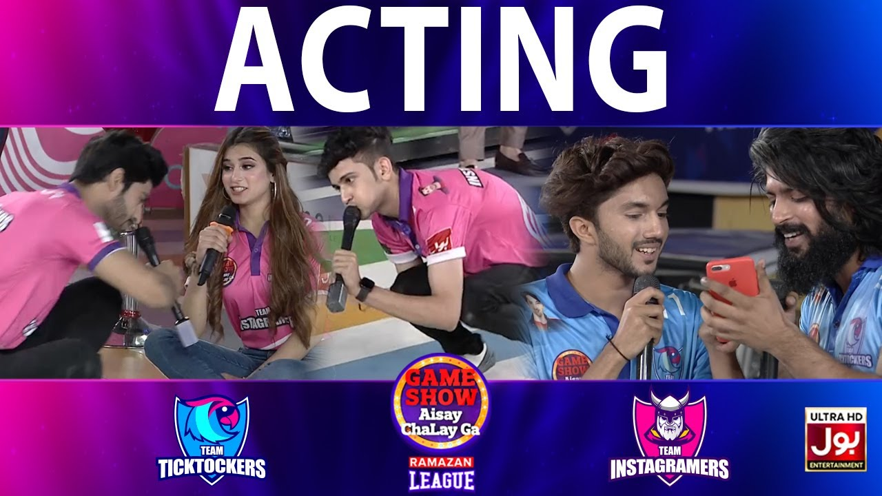 Download Acting   Game Show Aisay Chalay Ga Ramazan League   Tick Tockers Vs Instagramers