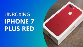iPhone 7 Plus Red [Unboxing] - Canaltech