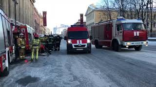 Пожар в здании Арбитражного суда Петербурга и Ленобласти