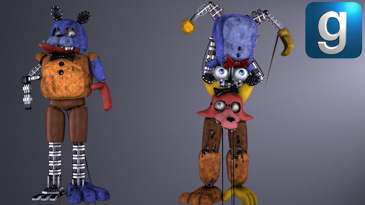 Gmod FNAF | Rebuilding Weird Animatronics With Spare Parts