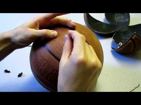 How to replace the inflation valve on a basketball