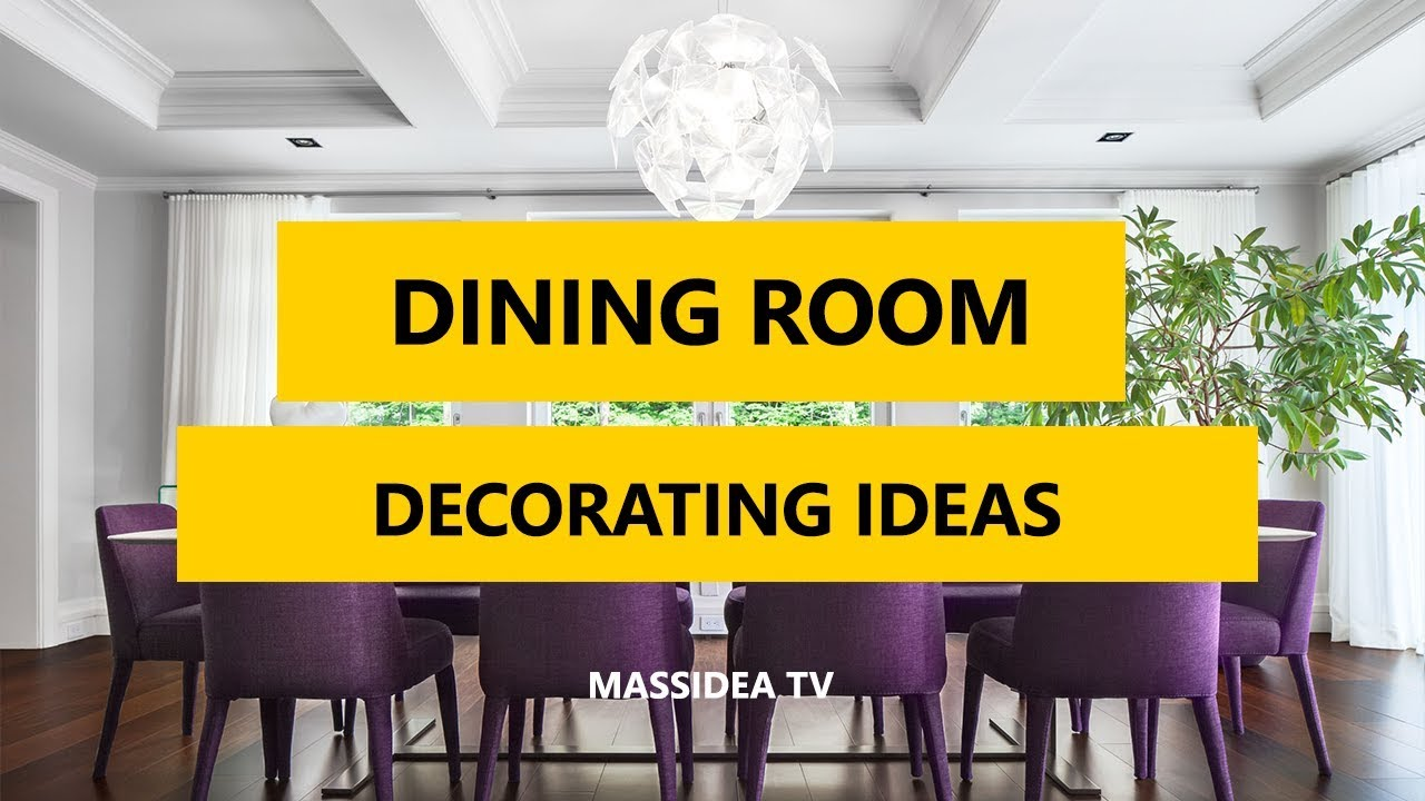 45+ Best Dining Room Decorating Ideas and Pictures 2017 - YouTube