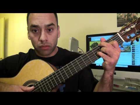 Belle Guitar Lesson - Jack Johnson tutorial Step by Step (Esteban Dias)