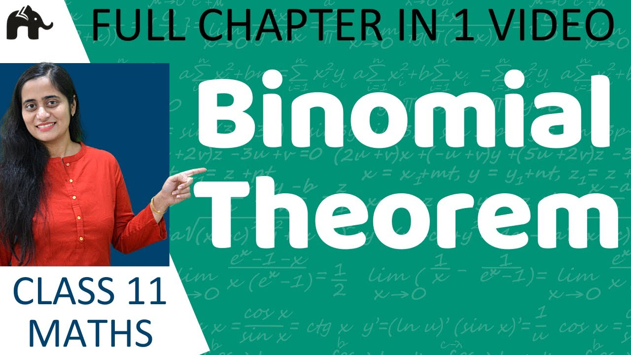 Binomial Theorem Class 11 | Chapter 8 Maths | in Hindi